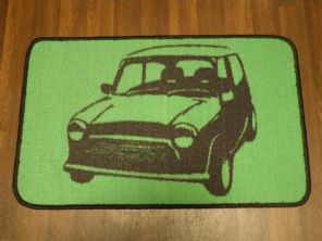 NON SLIP DOORMATS 50CMX80CM GEL BACKING TOP QUALITY MINI DESIGN GREEN/BLACK